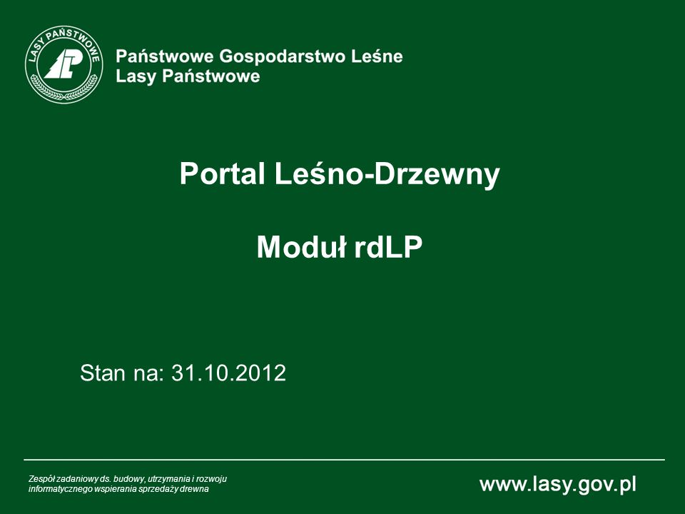 Portal Leśno-Drzewny Moduł rdLP
