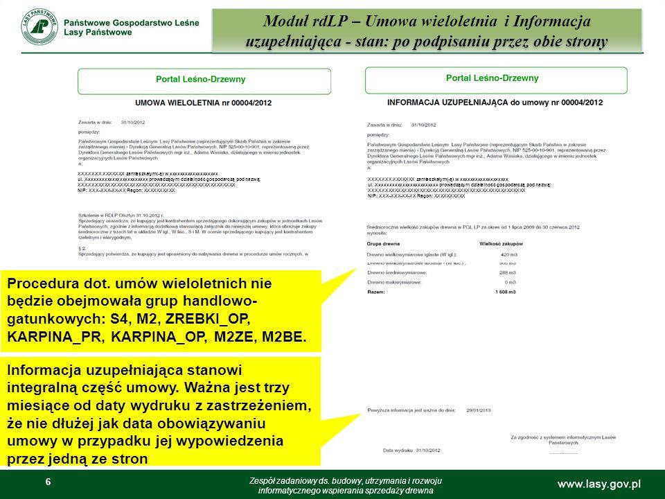 Moduł rdLP – Umowa wieloletnia i Informacja uzupełniająca - stan: po podpisaniu przez obie strony