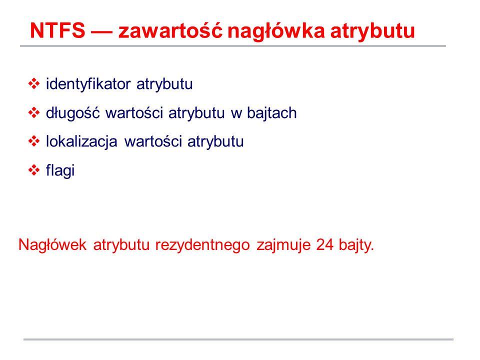 NTFS — zawartość nagłówka atrybutu