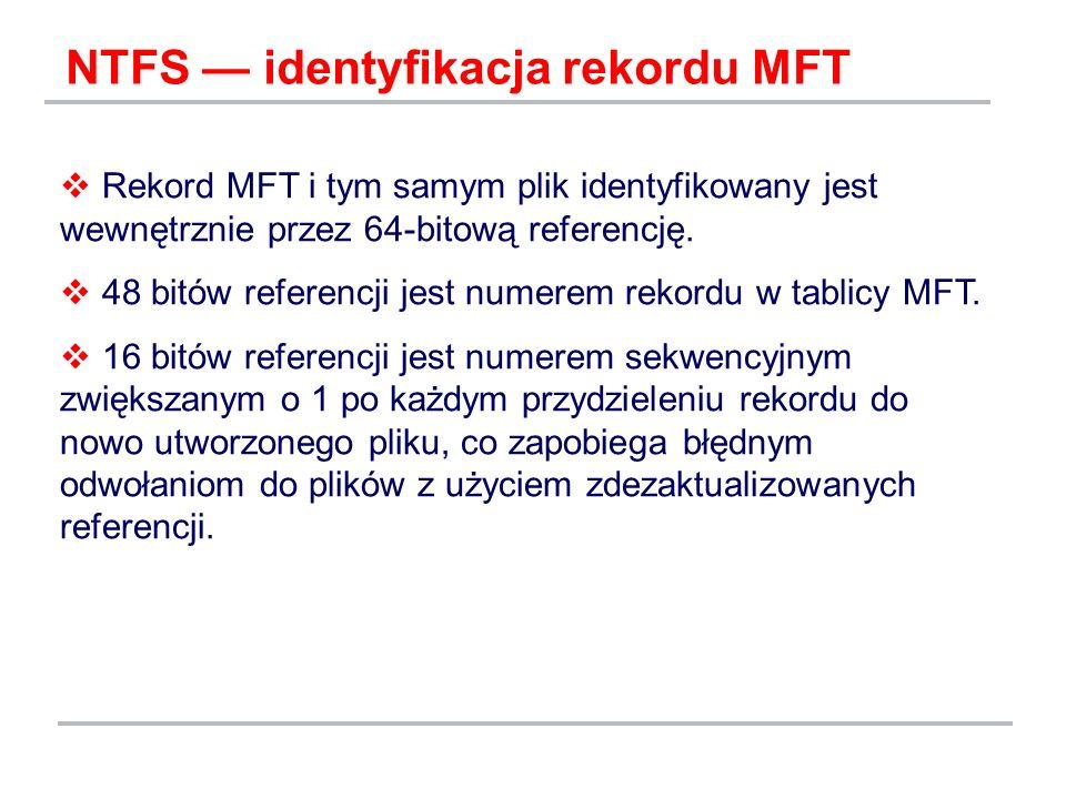NTFS — identyfikacja rekordu MFT