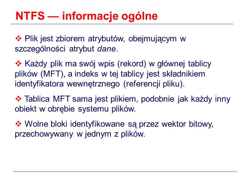 NTFS — informacje ogólne
