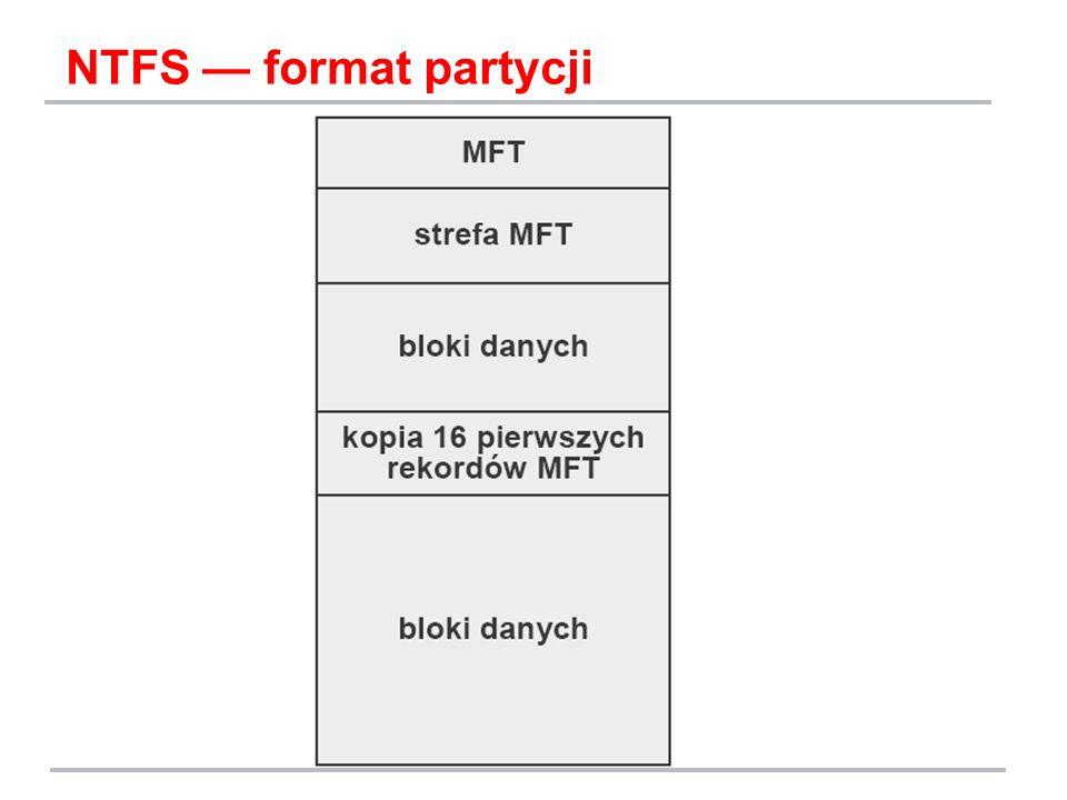 NTFS — format partycji