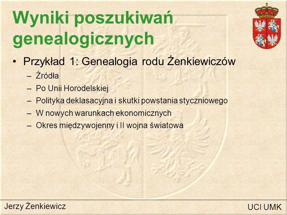 Wyniki poszukiwań genealogicznych