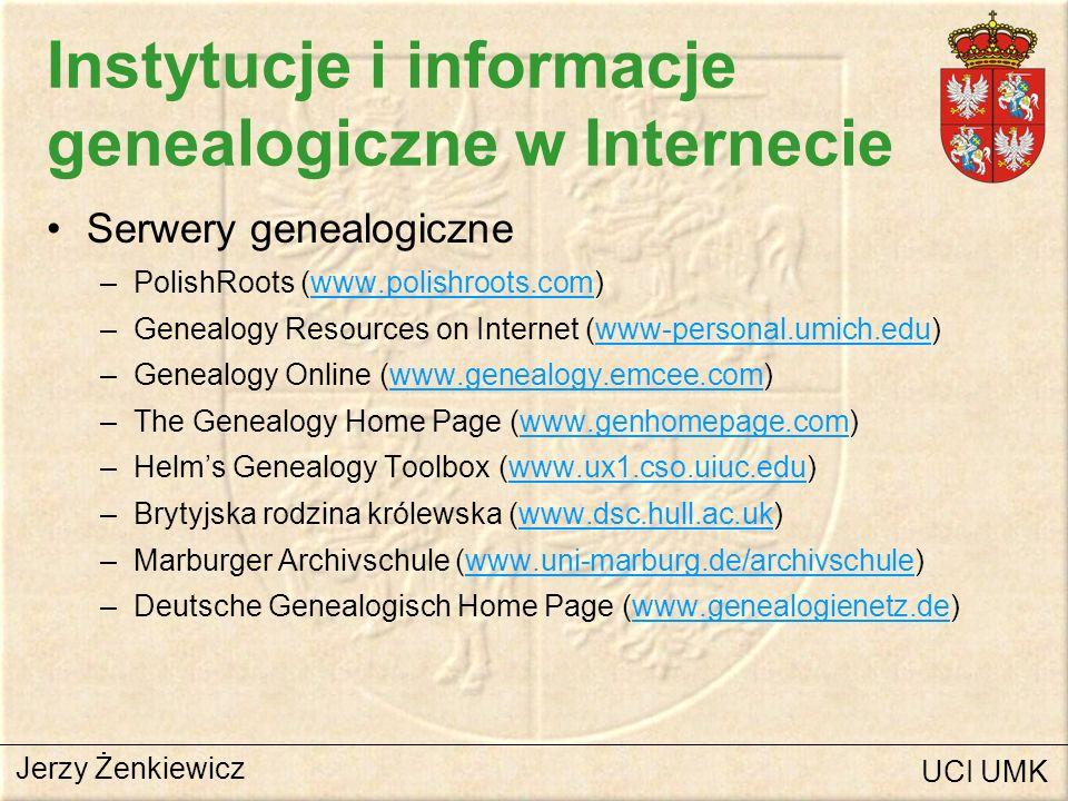 Instytucje i informacje genealogiczne w Internecie