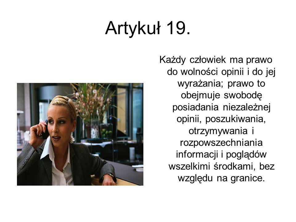 Artykuł 19.