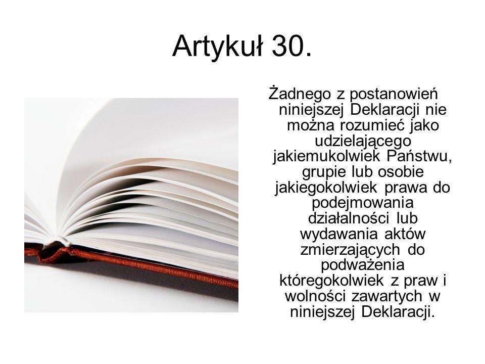 Artykuł 30.