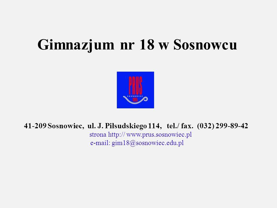 Gimnazjum nr 18 w Sosnowcu