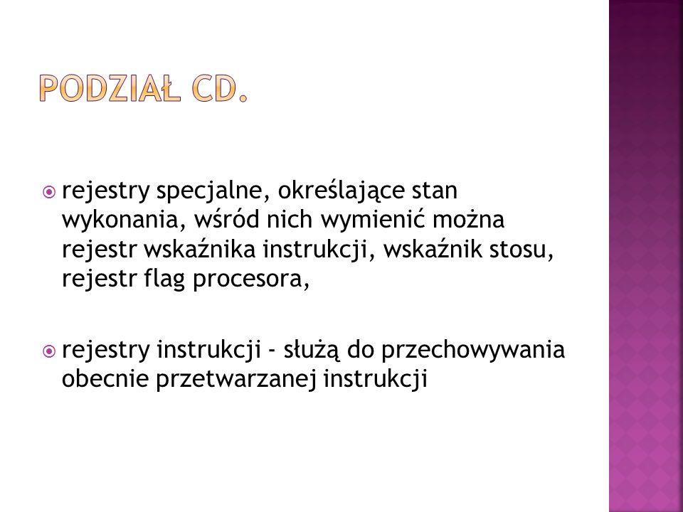 Podział cd.