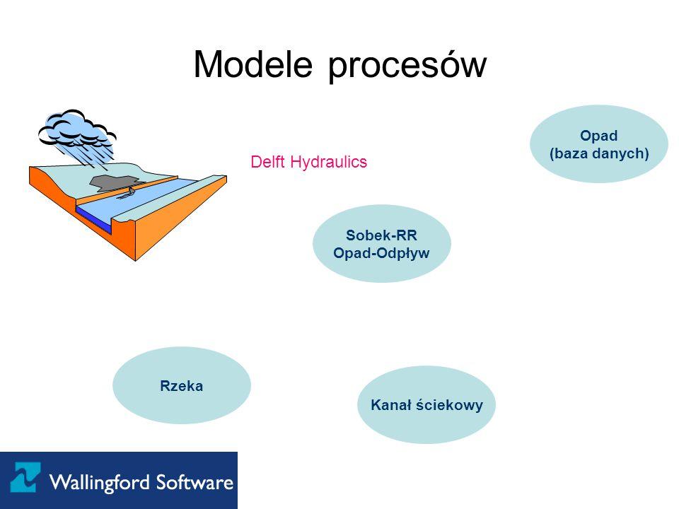 Modele procesów Delft Hydraulics Opad (baza danych) Sobek-RR