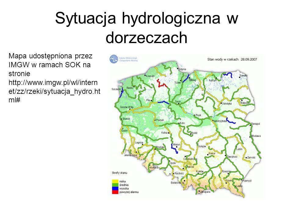 Sytuacja hydrologiczna w dorzeczach