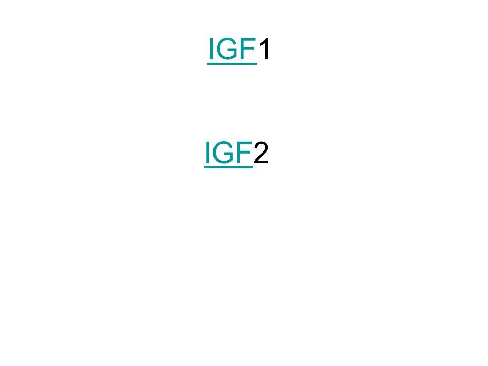 IGF1 IGF2