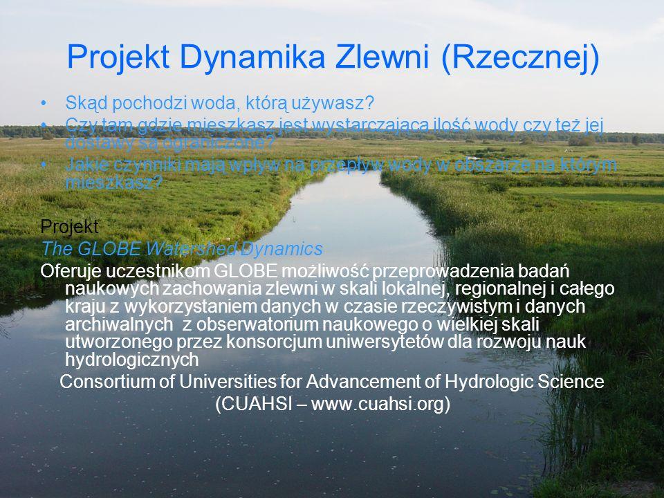Projekt Dynamika Zlewni (Rzecznej)