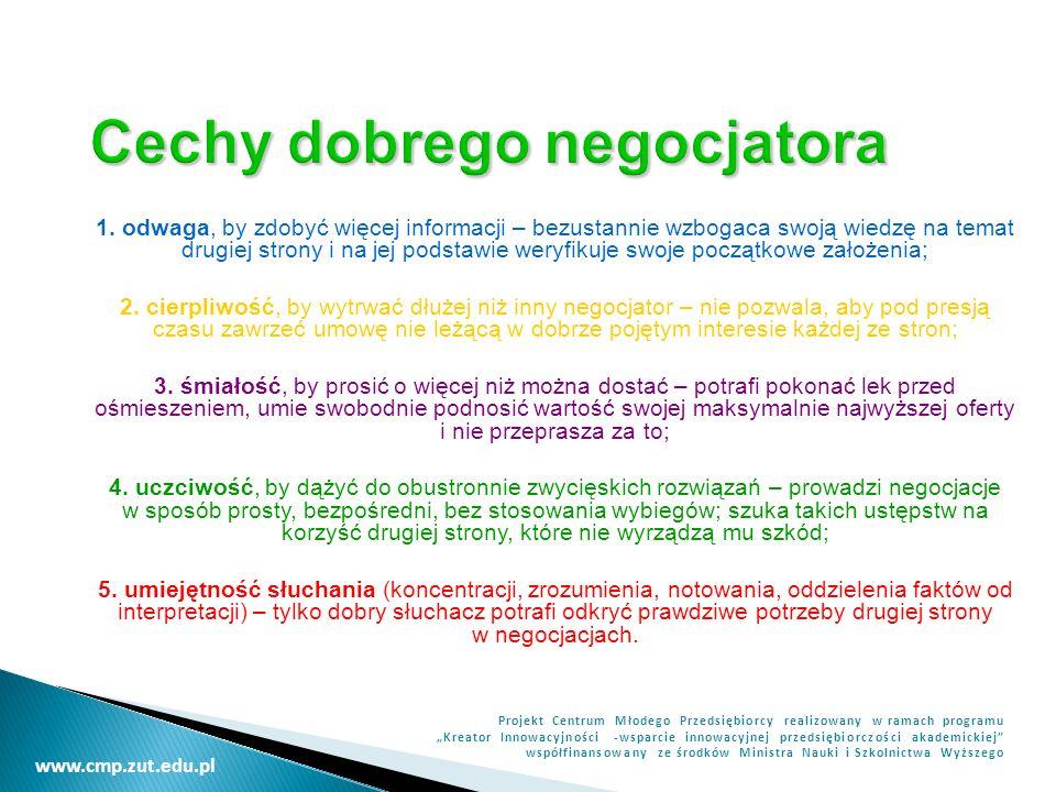 Cechy dobrego negocjatora