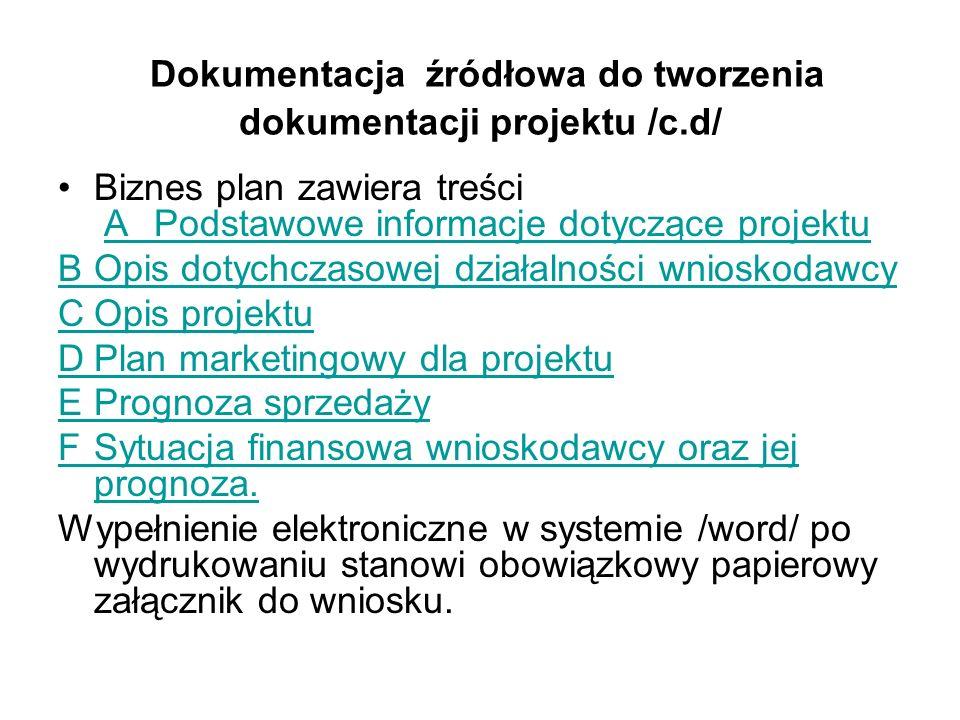 Dokumentacja źródłowa do tworzenia dokumentacji projektu /c.d/