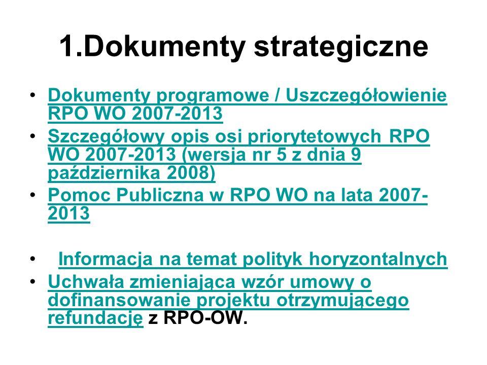 1.Dokumenty strategiczne
