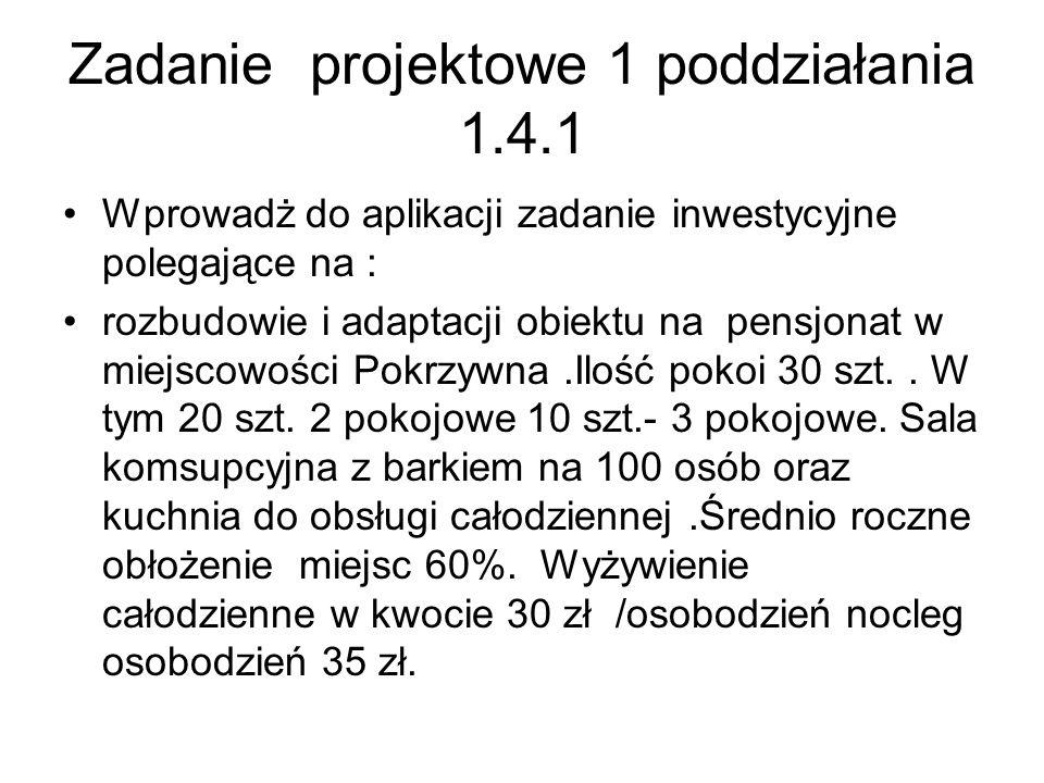 Zadanie projektowe 1 poddziałania 1.4.1