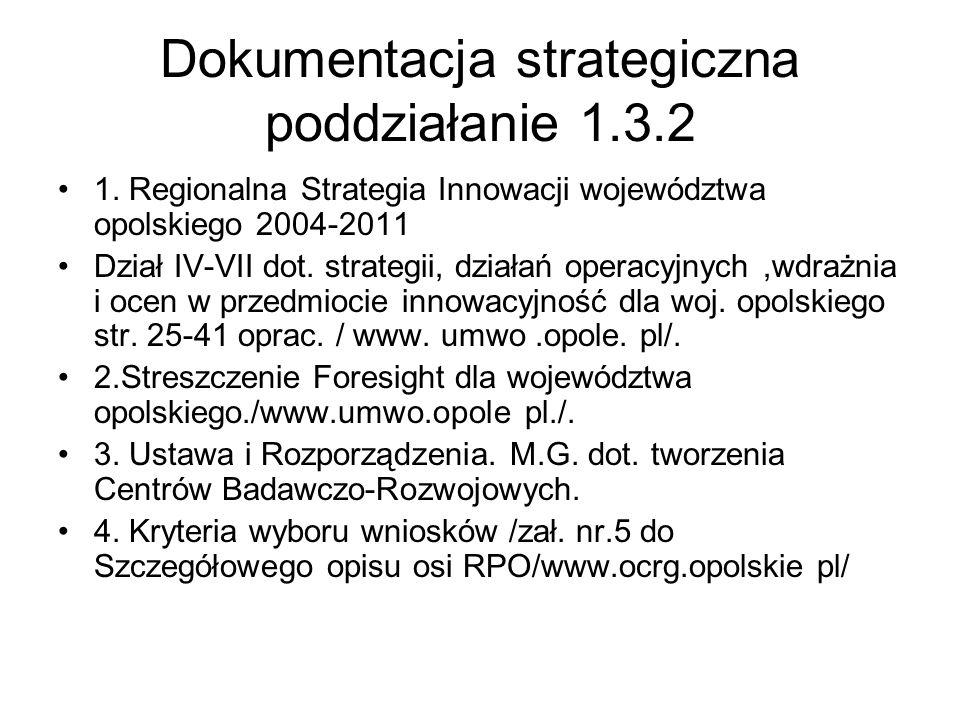 Dokumentacja strategiczna poddziałanie 1.3.2
