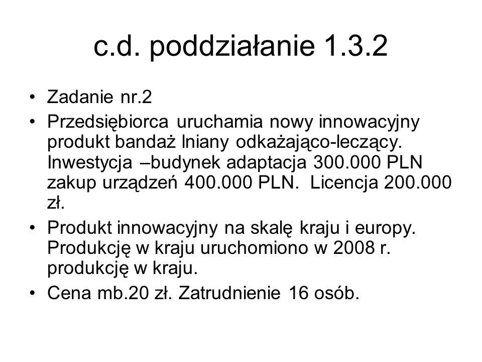 c.d. poddziałanie 1.3.2 Zadanie nr.2