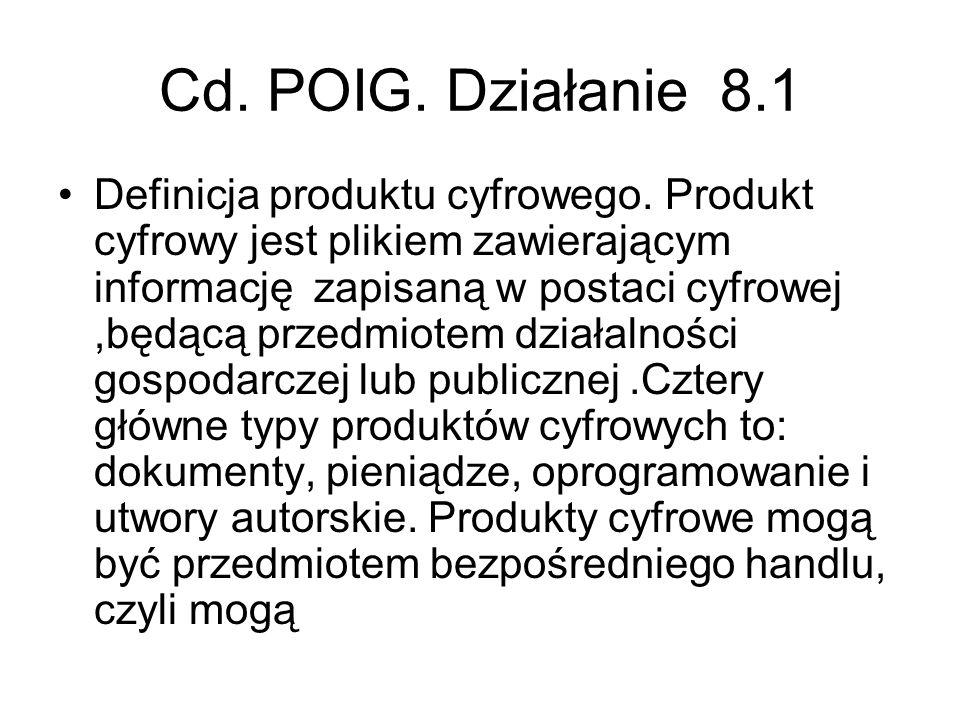 Cd. POIG. Działanie 8.1