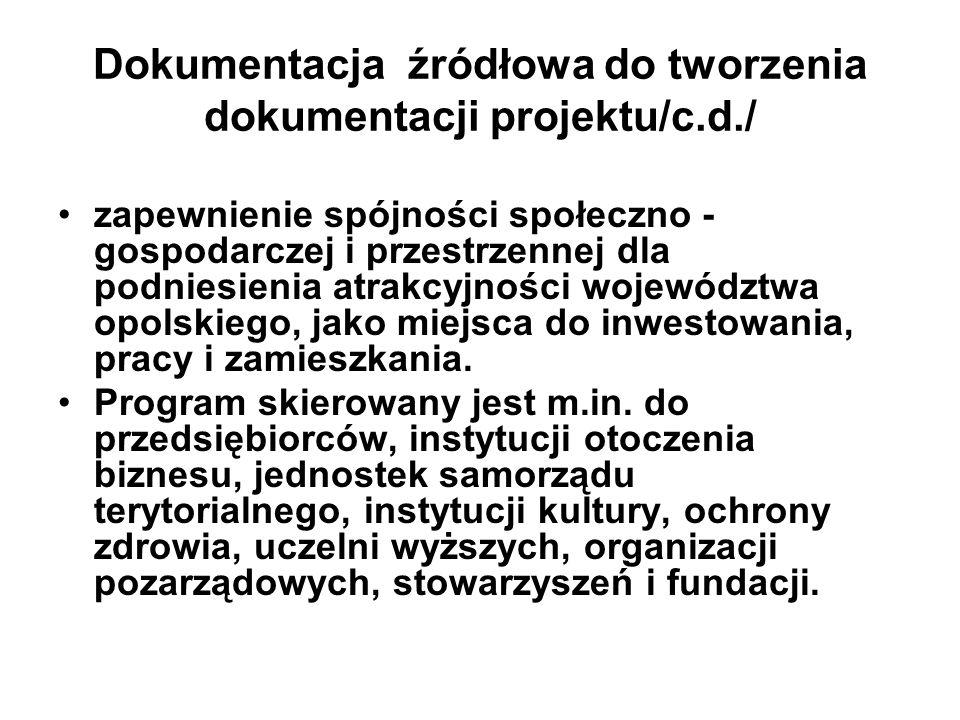Dokumentacja źródłowa do tworzenia dokumentacji projektu/c.d./