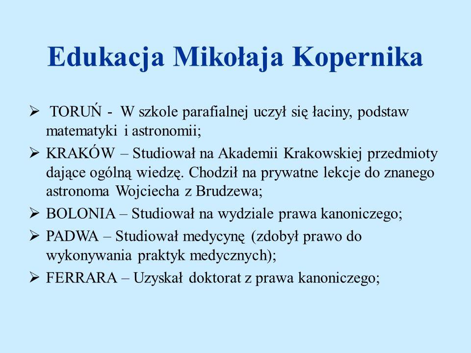 Edukacja Mikołaja Kopernika