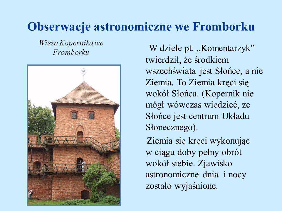 Obserwacje astronomiczne we Fromborku