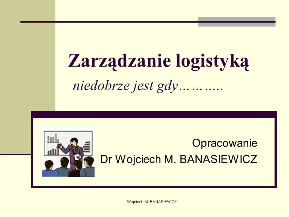 Zarządzanie logistyką niedobrze jest gdy………..