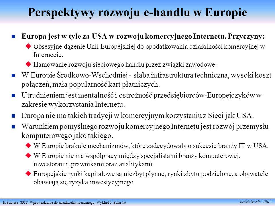 Perspektywy rozwoju e-handlu w Europie