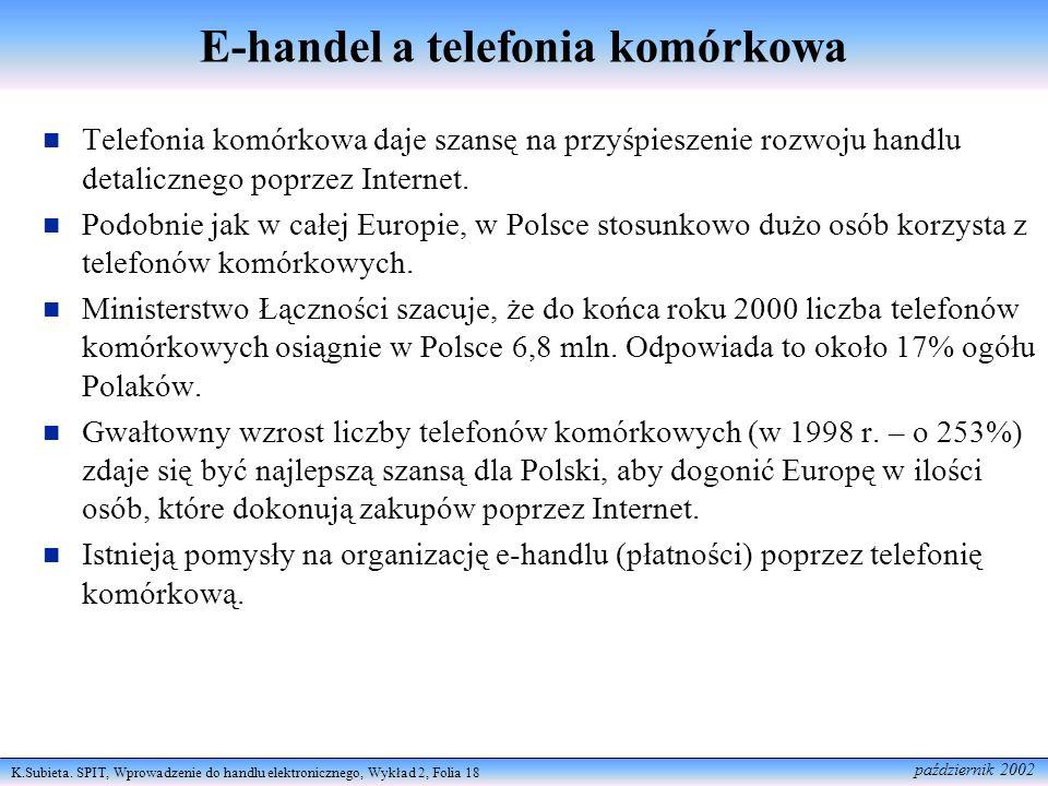E-handel a telefonia komórkowa