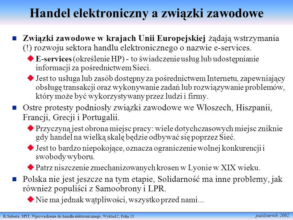 Handel elektroniczny a związki zawodowe
