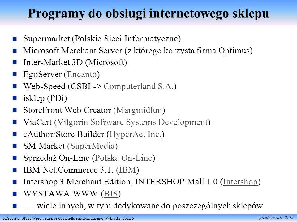 Programy do obsługi internetowego sklepu