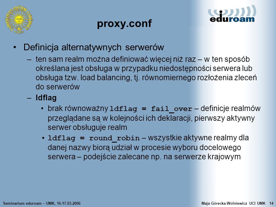 proxy.conf Definicja alternatywnych serwerów