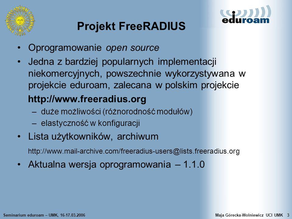 Projekt FreeRADIUS Oprogramowanie open source