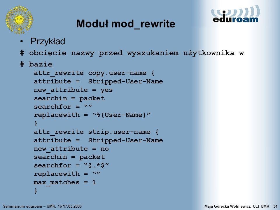 Moduł mod_rewrite Przykład