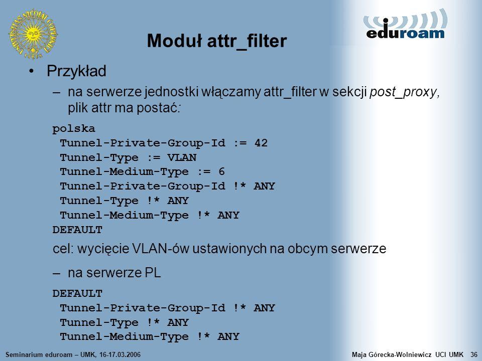 Moduł attr_filter Przykład
