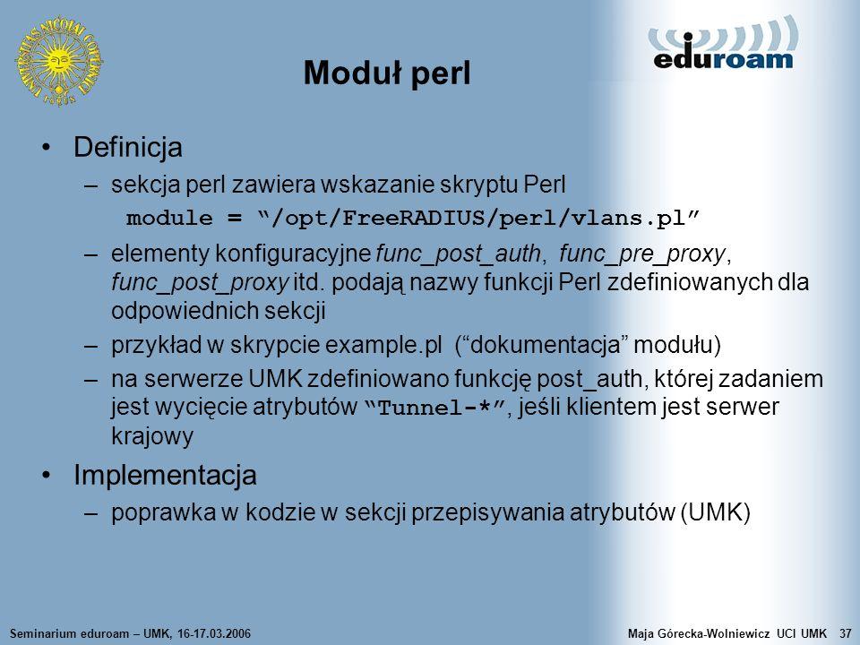 Moduł perl Definicja Implementacja