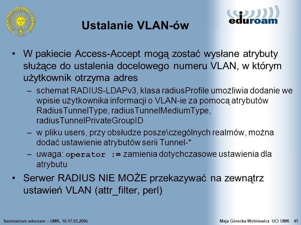 Ustalanie VLAN-ów