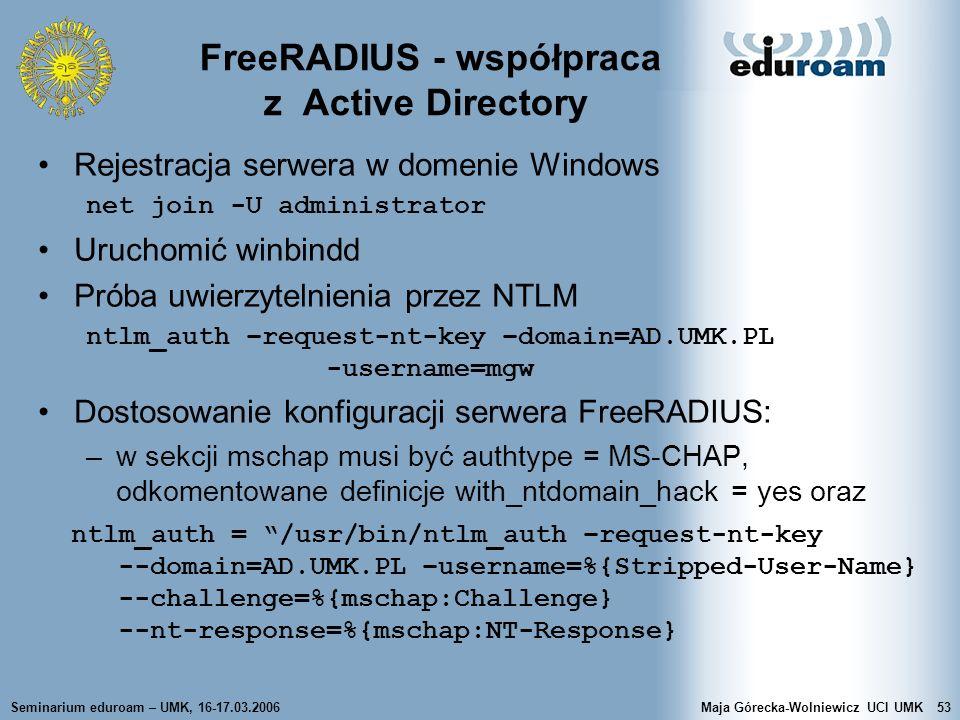 FreeRADIUS - współpraca z Active Directory