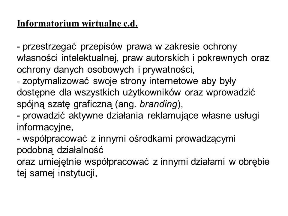 Informatorium wirtualne c.d.