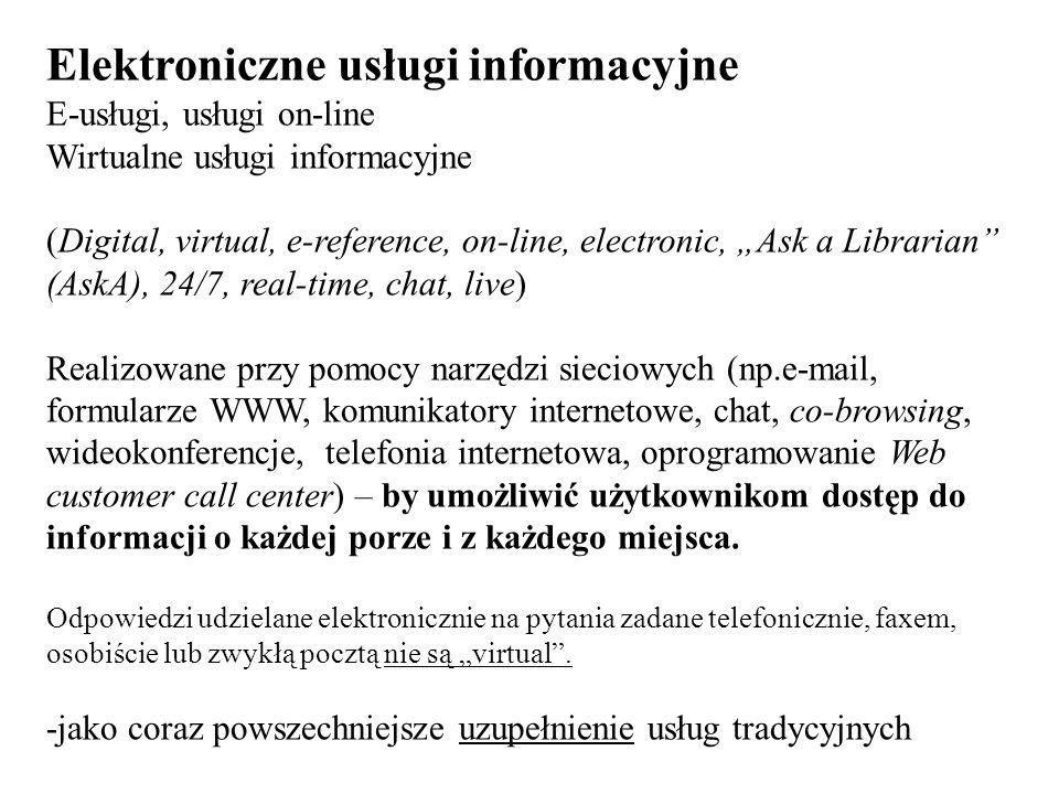 Elektroniczne usługi informacyjne