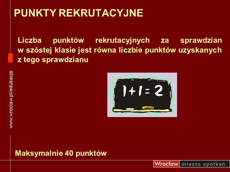 www.wroclaw.pl/edukacjaPUNKTY REKRUTACYJNE.
