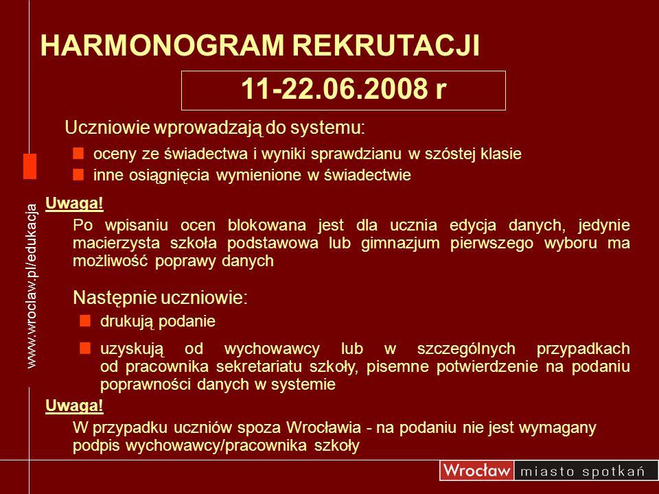 HARMONOGRAM REKRUTACJI