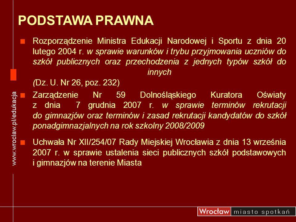 www.wroclaw.pl/edukacja PODSTAWA PRAWNA.