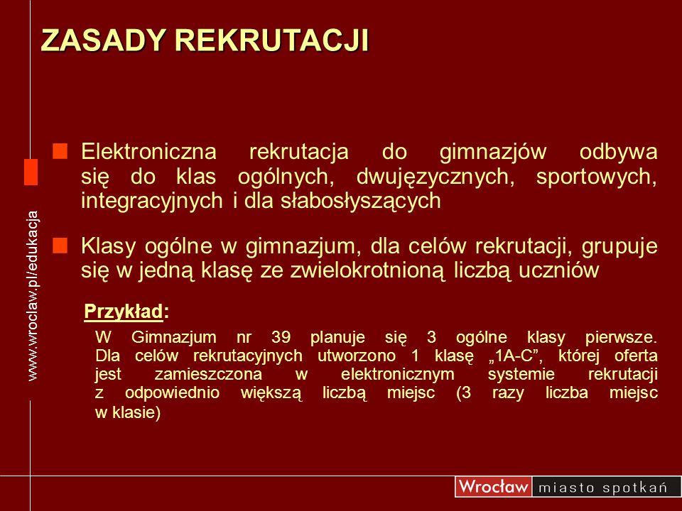 www.wroclaw.pl/edukacjaZASADY REKRUTACJI.