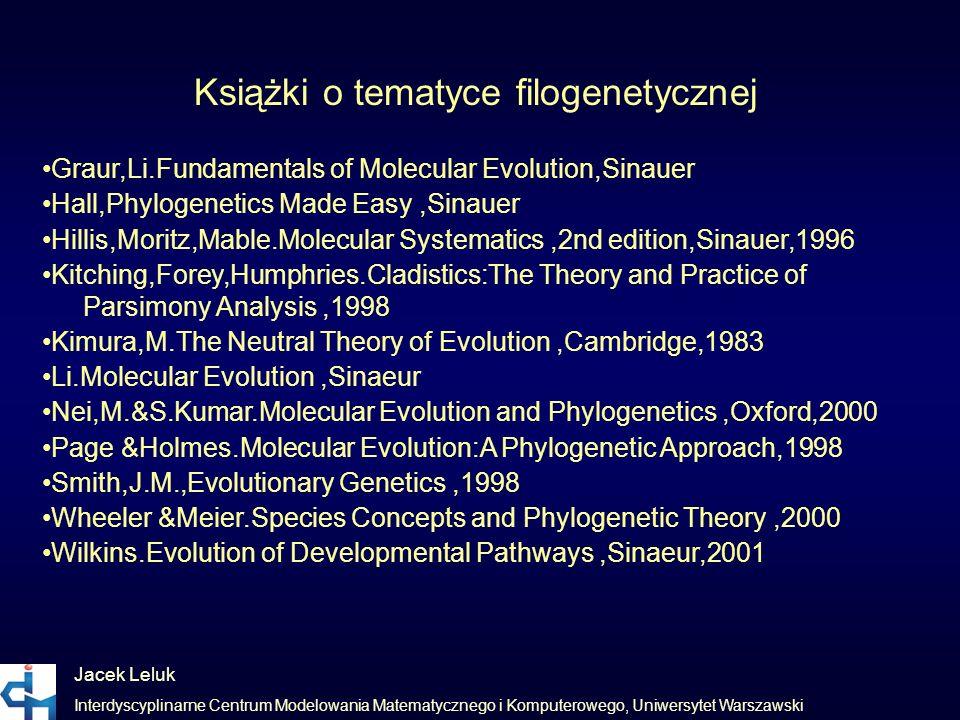 Książki o tematyce filogenetycznej