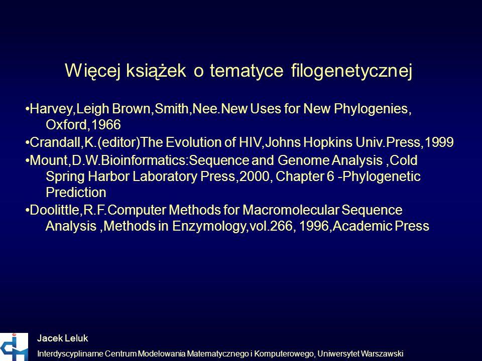 Więcej książek o tematyce filogenetycznej