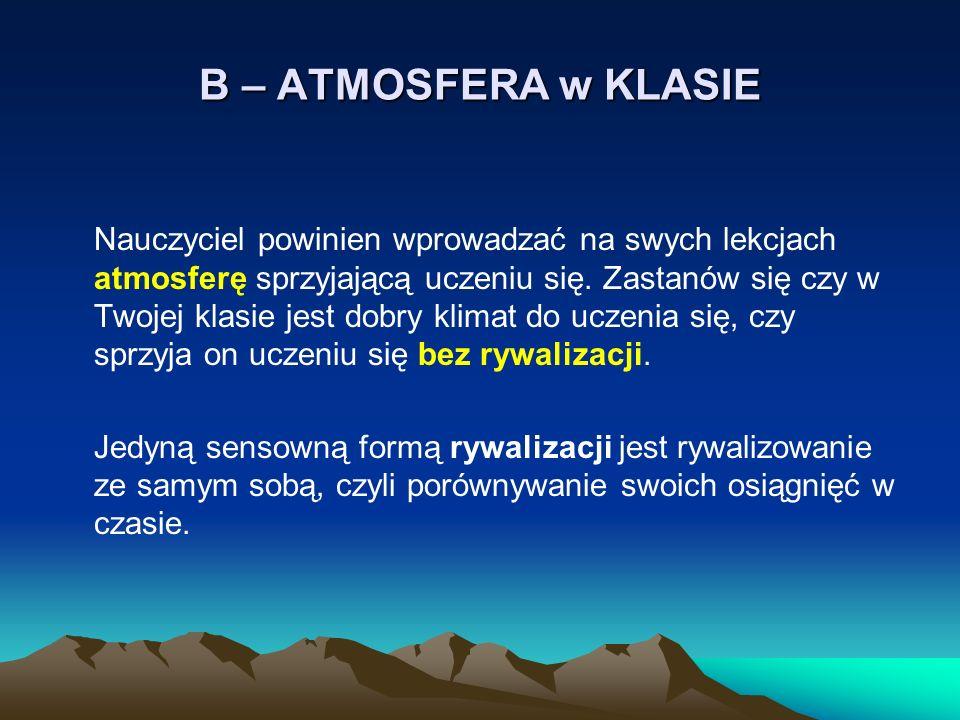 B – ATMOSFERA w KLASIE