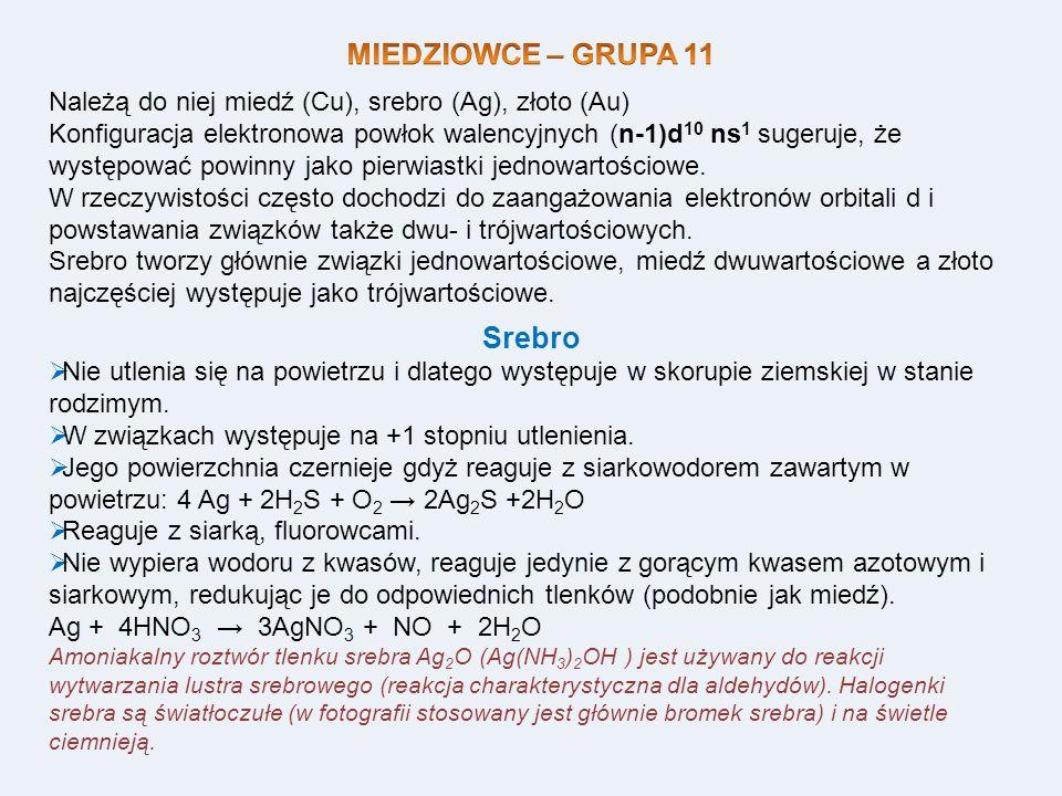 MIEDZIOWCE – GRUPA 11 Srebro