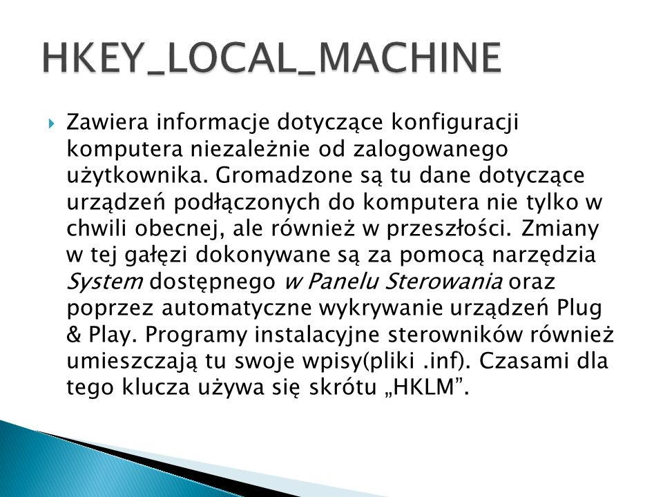 HKEY_LOCAL_MACHINE