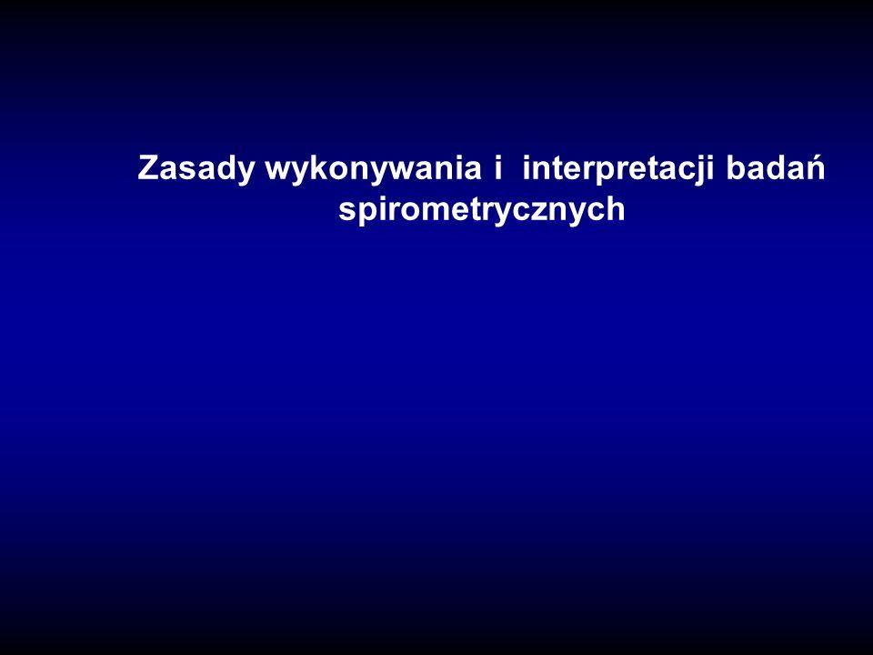 Zasady wykonywania i interpretacji badań spirometrycznych